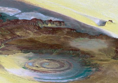 Cratere nel Sahara