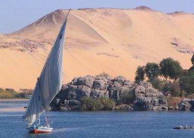 Il Nilo presso Assuan, Egitto
