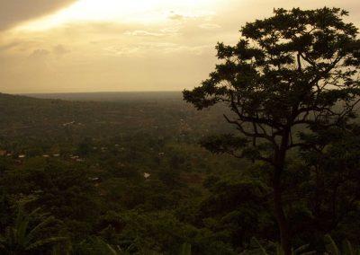 Tramonto in Uganda